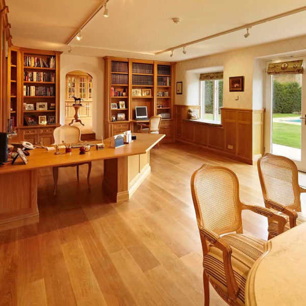 Oxfordshire Bespoke oak Study furniture